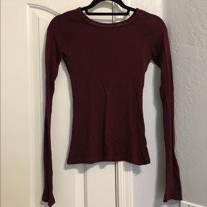 Brandy Melville maroon long sleeve